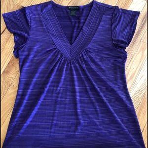 EUC Susan Lawrence size large purple blouse